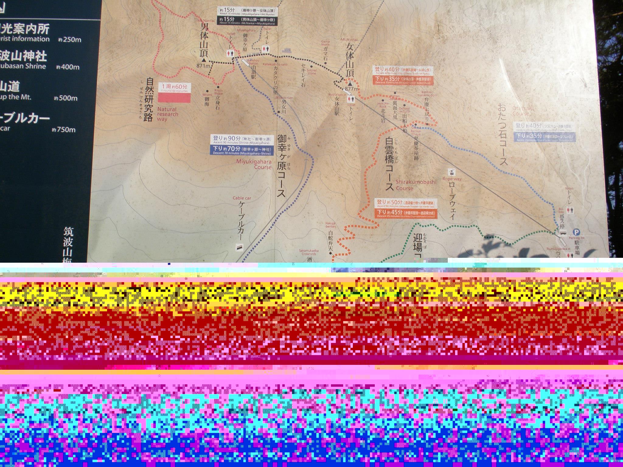筑波山 マップ 混雑