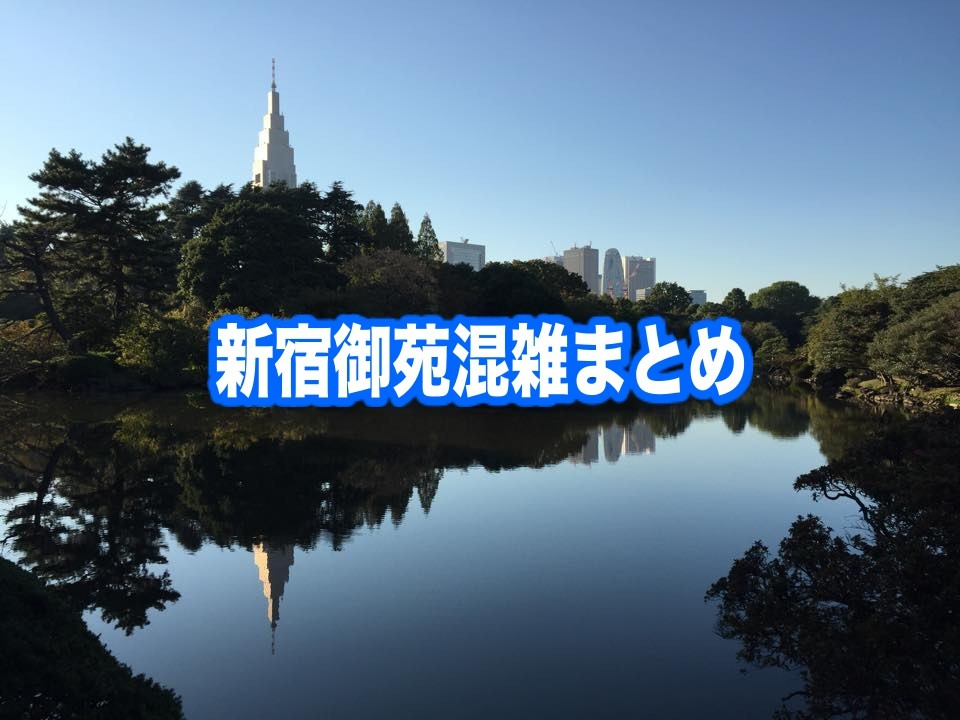 【新宿御苑混雑予想2020】春夏休み(紅葉見頃&花見開花) 土日と平日