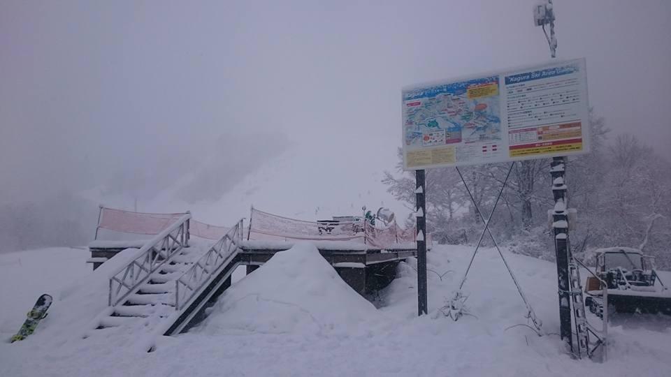かぐらスキー場の吹雪
