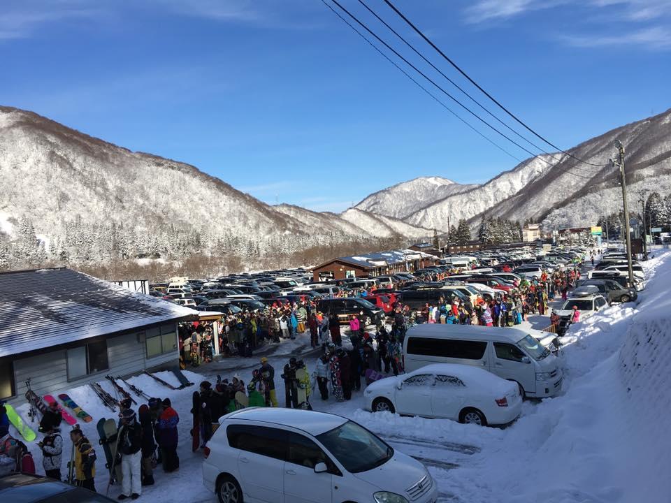 かぐらスキー場 混雑