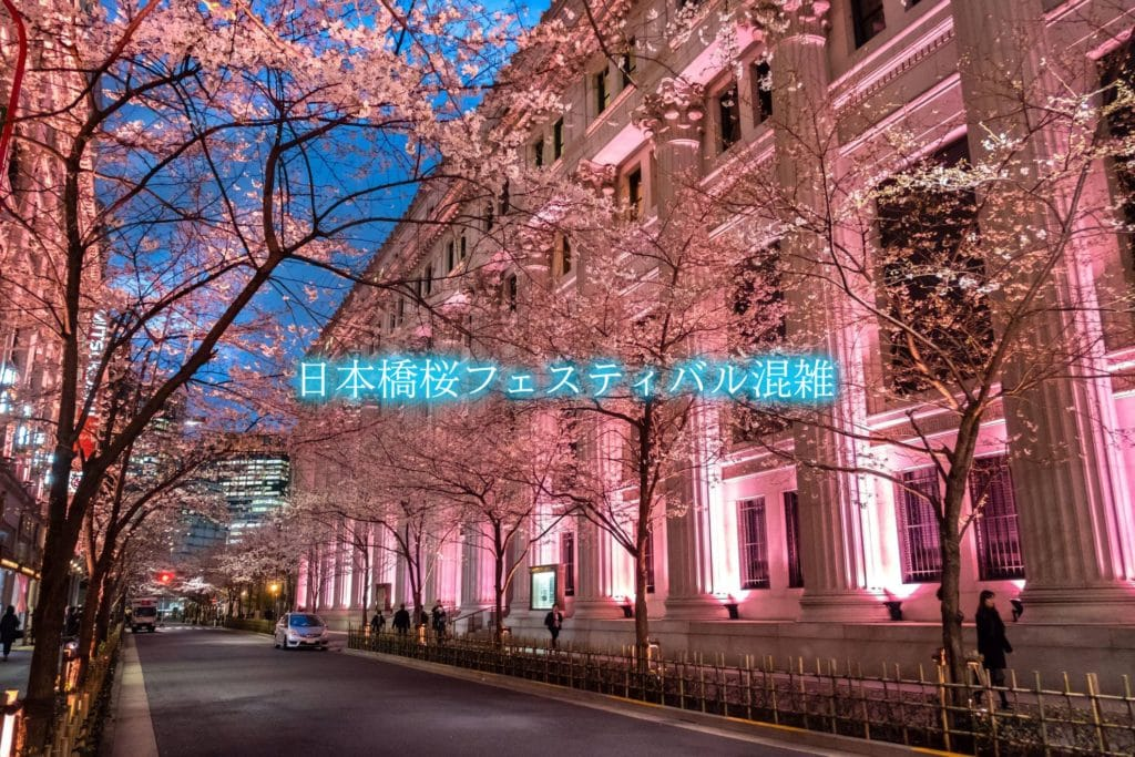 【日本橋桜フェスティバル混雑2020】平日&土日!ライトアップ時間と駐車場混雑攻略